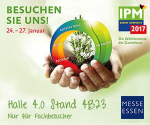 Besuchen Sie uns auf der Weltleitmesse des Gartenbaus in Essen